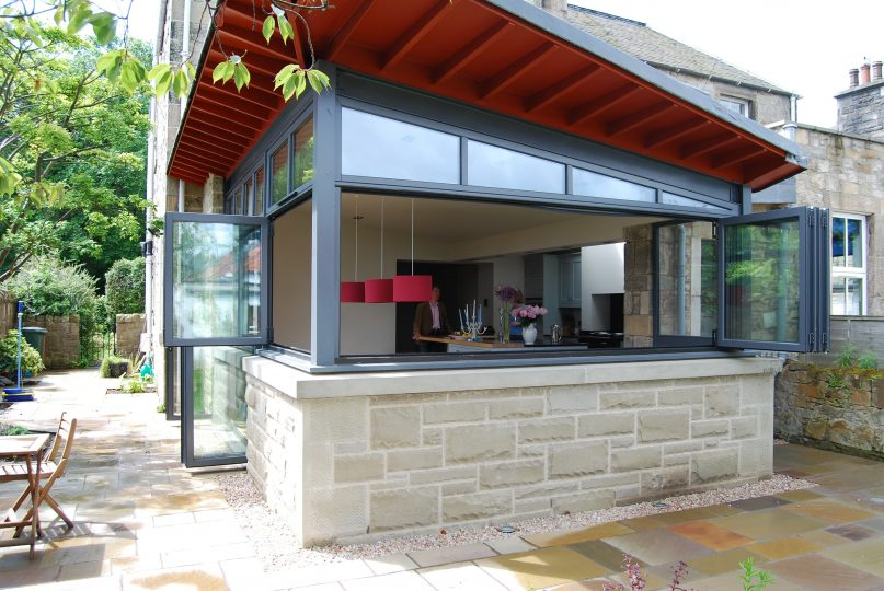 Edinburgh home extension folding doors