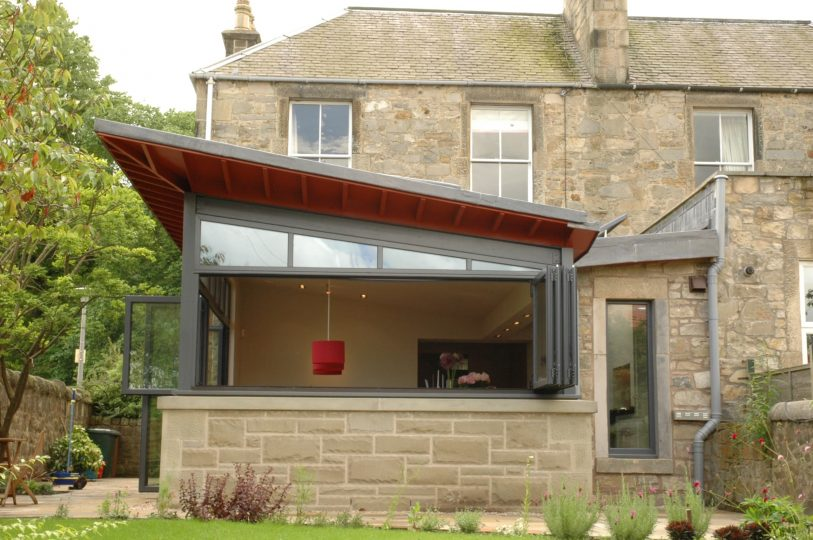 Edinburgh home extension open plan